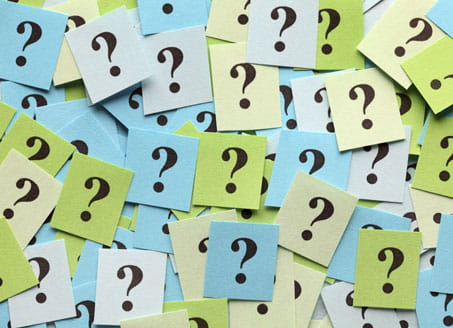 Image of question marks on sticky notes. Credit: Getty Images