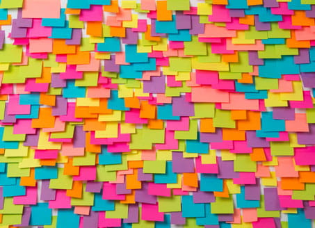 Coloured sticky notes