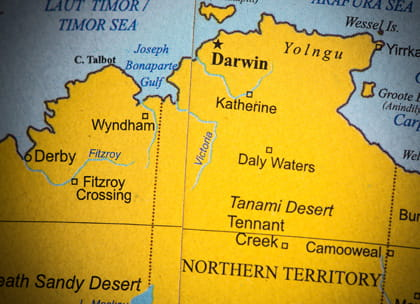 map of northern australia